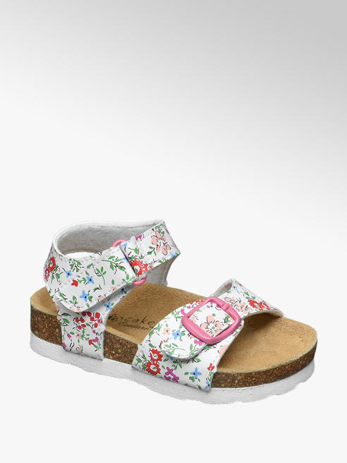 Cupcake Couture Witte sandaal bloemenprint