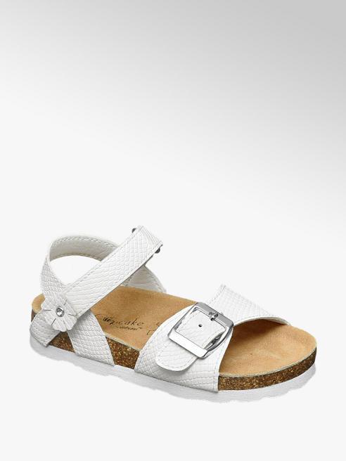 Cupcake Couture Witte sandaal slangenprint