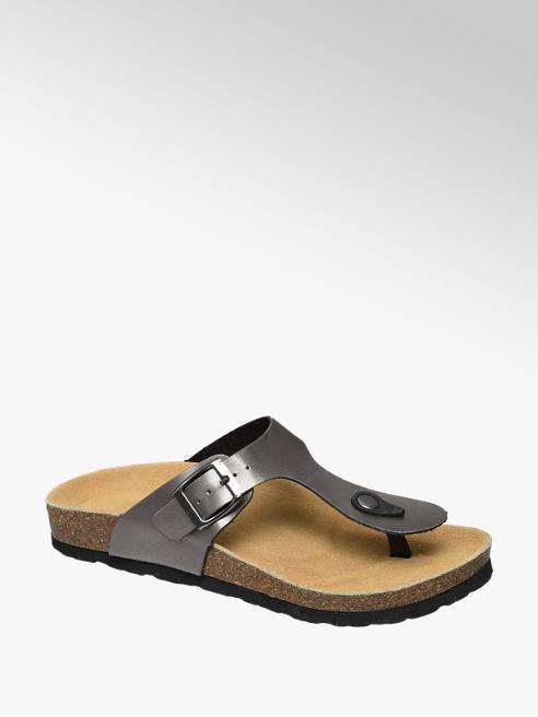 Graceland Grijze sandaal gespsluiting