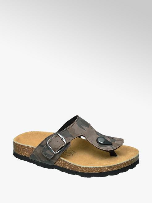 Agaxy Beige sandaal camoprint