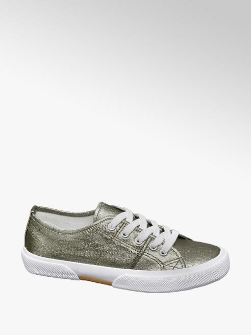 Vty Zilveren sneaker metallic
