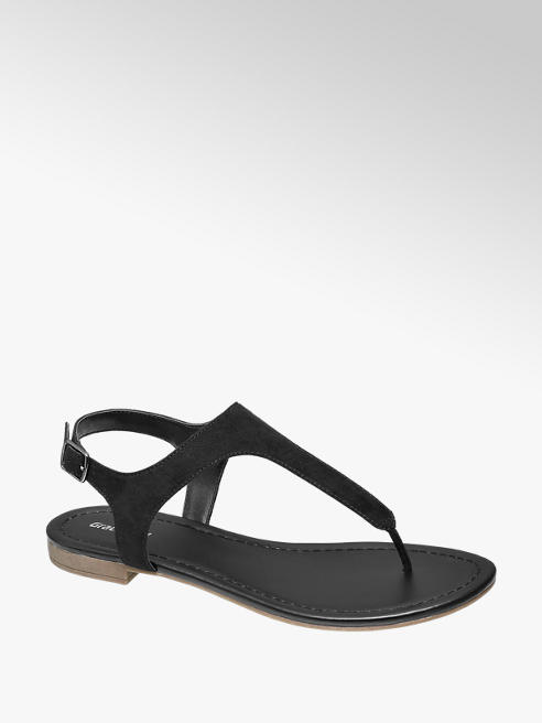 Graceland Zwarte sandaal gesp