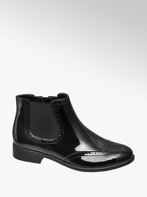 Graceland Zwarte chelsea boot brogue