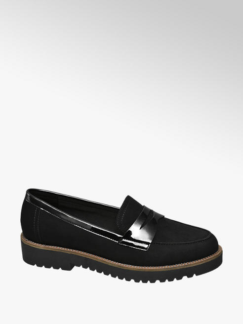 Graceland Zwarte loafer grove zool