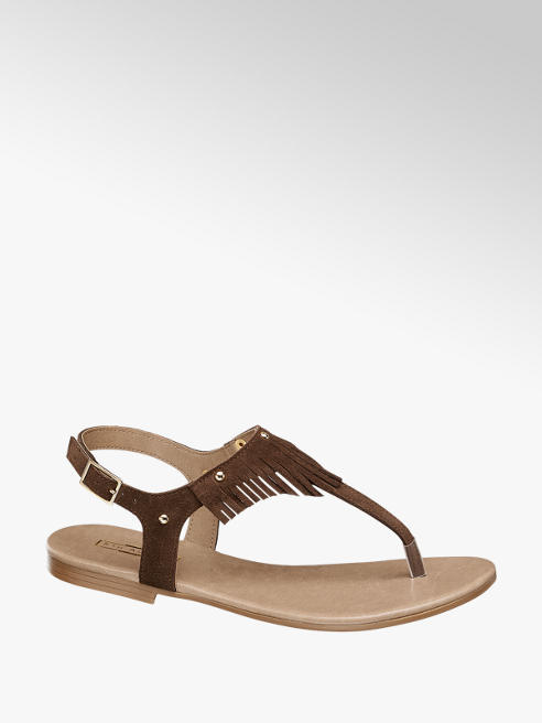5th Avenue Deri Parmak Arası Sandalet