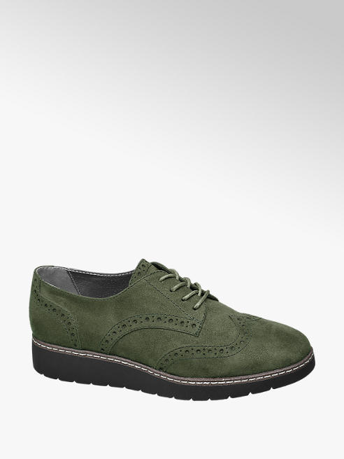 Graceland Groene dandy veterschoen brogue