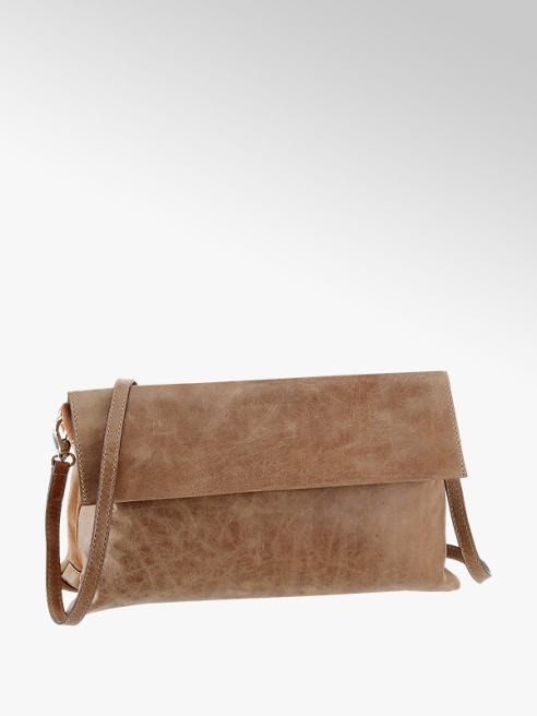 5th Avenue Beige leren clutch