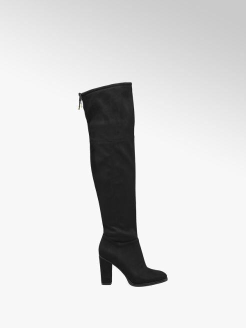 Graceland Siyah Diz Üstü Çizme