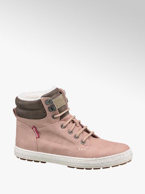 Venice Roze gevoerde halfhoge sneaker