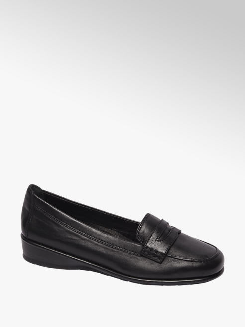 Medicus Zwarte leren loafer