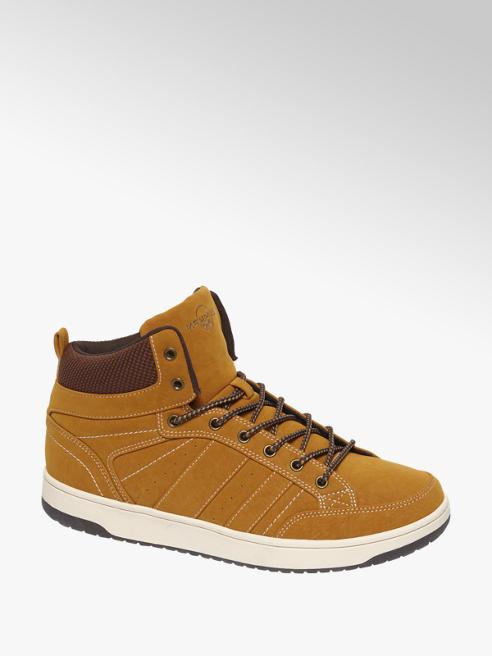 Memphis One Bruine halfhoge sneaker