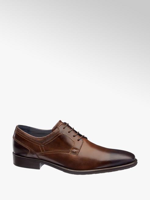 AM shoe Bruine leren geklede veterschoen