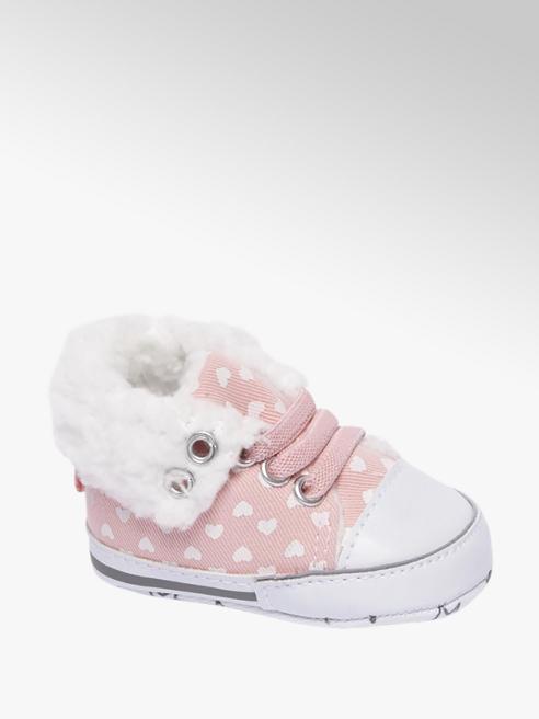 Casa mia Roze baby pantoffel gevoerd