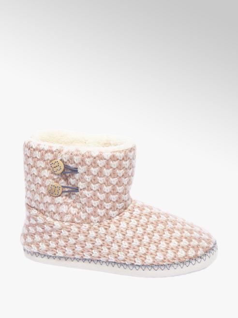 Casa mia Roze pantoffel gevoerd