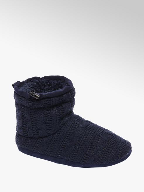 Casa mia Blauwe gevoerde pantoffel