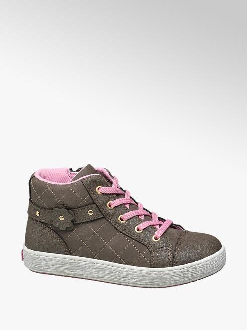 Cupcake Couture Bruine halfhoge sneaker glitters