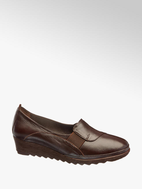 Easy Street Deri Dolgu Topuk Ayakkabı