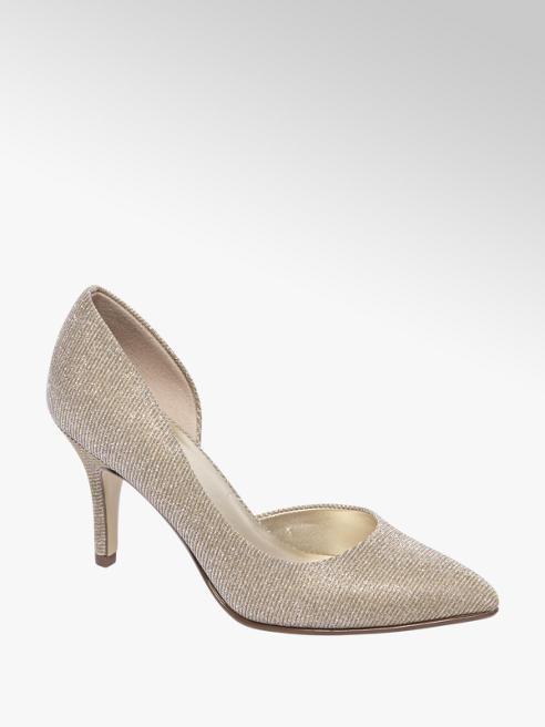 Graceland Gouden pump glitters