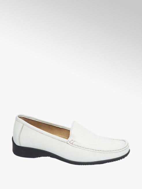 5th Avenue Witte leren moccassin