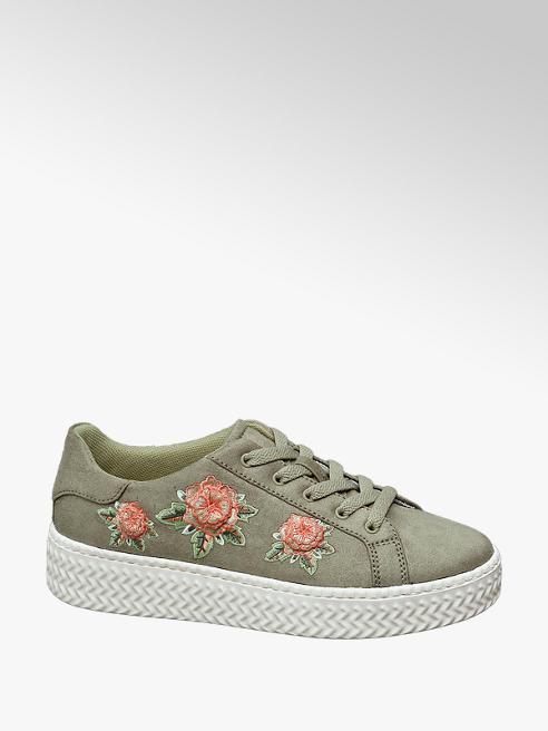 Graceland Groene plateau sneaker patches