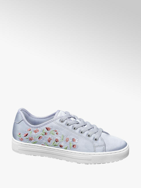 Graceland Paarse sneaker embroidery