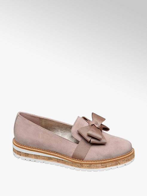 Graceland Roze loafer strik