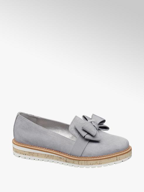 Graceland Grijze loafer strik