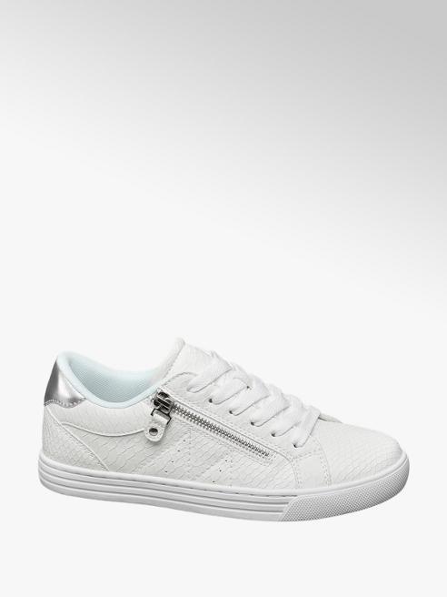 Graceland Witte sneaker metallic hak