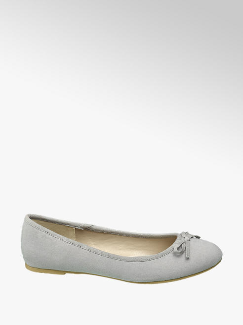 Graceland Grijze ballerina strikje