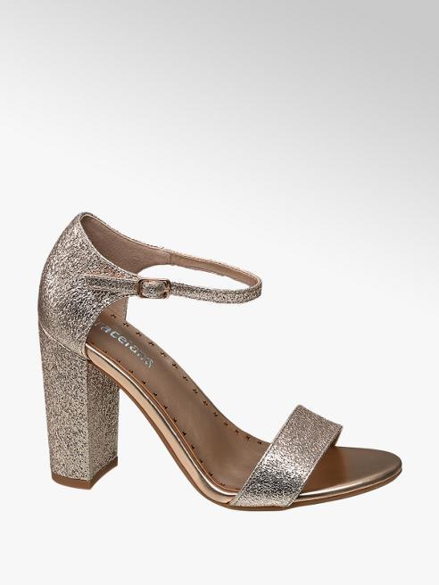 Graceland Rosé gouden sandalette glitters