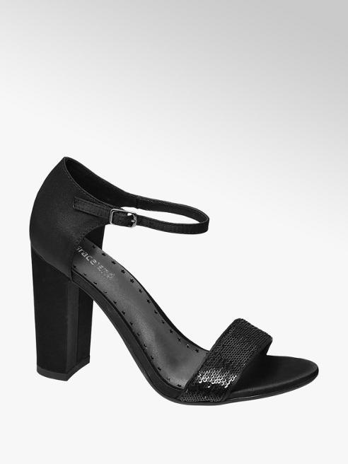 Graceland Zwarte sandalette pailletten