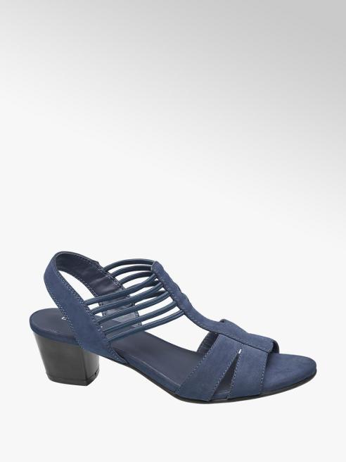 Graceland Blauwe sandalette elastiek