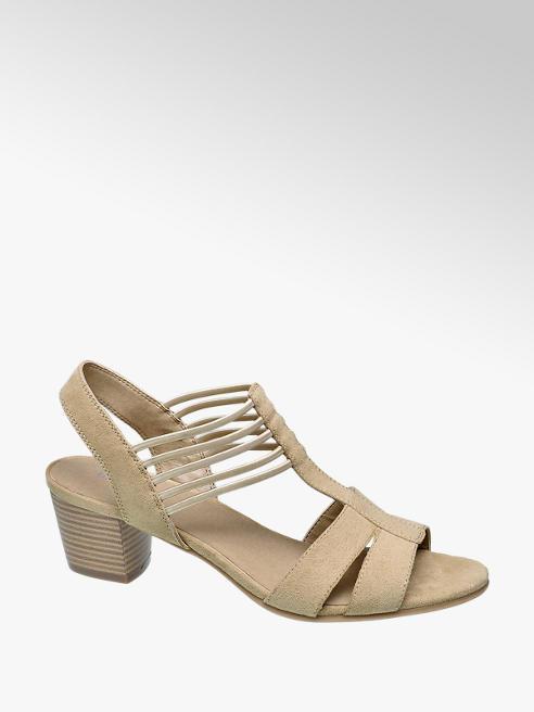 Graceland Beige sandalette elastiek