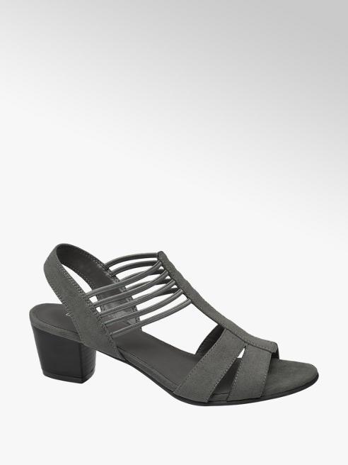 Graceland Grijze sandaal elastiek