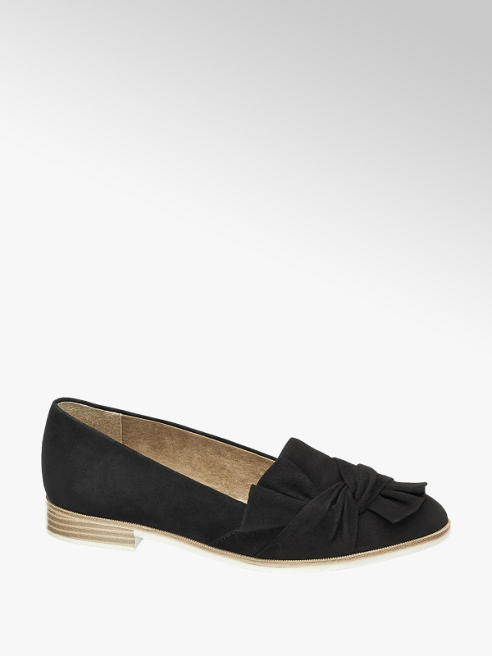 5th Avenue Zwarte suède loafer strik