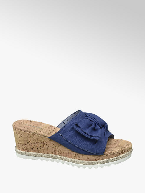 Graceland Blauwe slipper sleehak