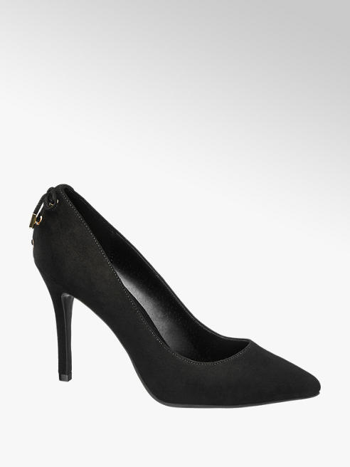 Graceland Zwarte pump sierveter