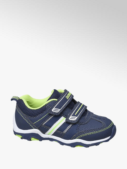 Bobbi-Shoes Blauwe sneaker klittenband