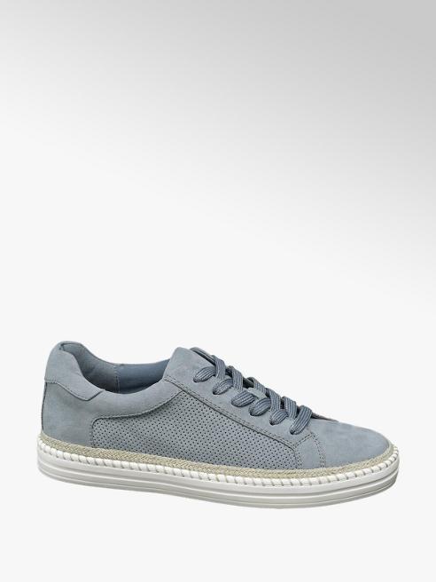 Graceland Lichtblauwe sneaker perforatie
