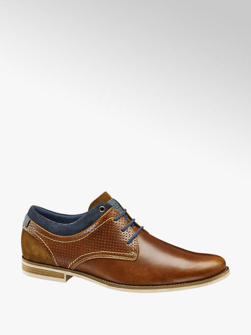 AM shoe Cognac leren geklede veterschoen