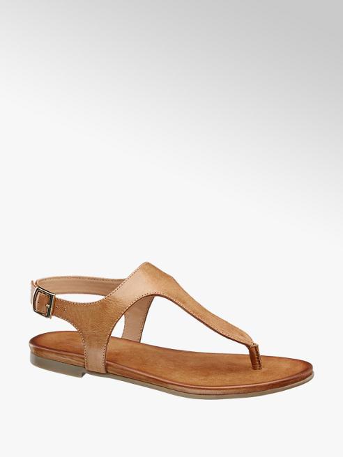 5th Avenue Cognac sandaal leer