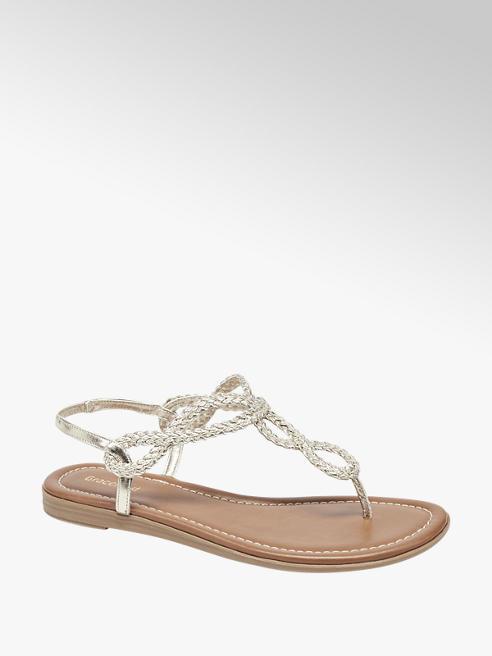 Graceland Gouden sandaal geweven