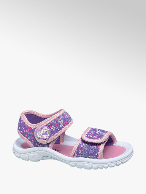Cupcake Couture Paarse sandaal velcro