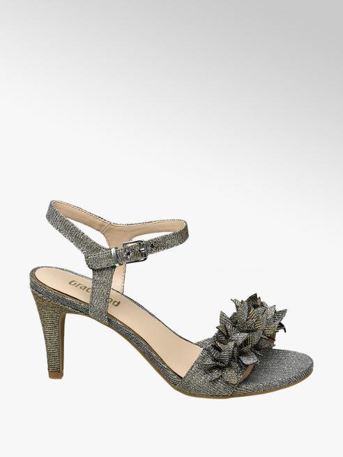 Graceland Zilveren sandalette glitters