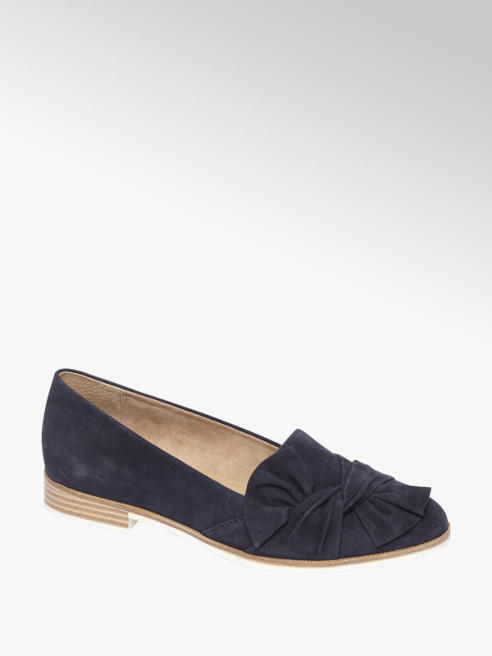 5th Avenue Donkerblauwe suède loafer strik