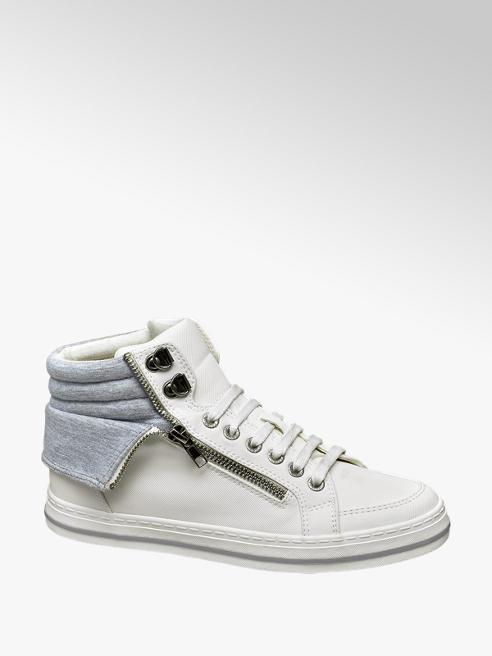 Venice Witte halfhoge sneaker