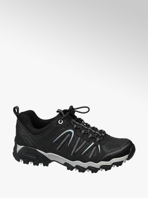 Landrover Zwarte wandelschoen aantreklus