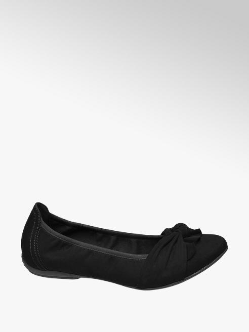 Graceland Zwarte ballerina strik