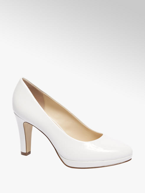 Graceland Witte pump plateauzool