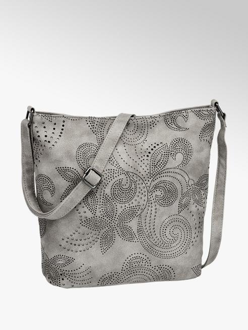 Graceland Grijze schoudertas bloemenprint